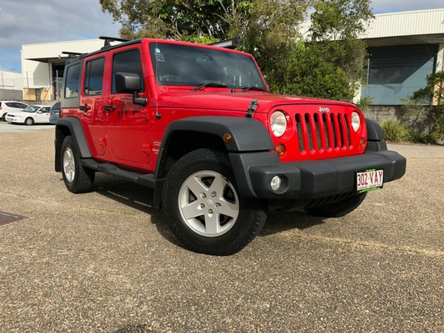Used Jeep Wrangler JK MY2010 Unlimited Sport, 2010 Jeep Wrangler JK MY2010 Unlimited Sport Red 4 Speed Automatic Softtop