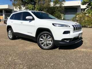 2014 Jeep Cherokee KL Limited White 9 Speed Sports Automatic Wagon.