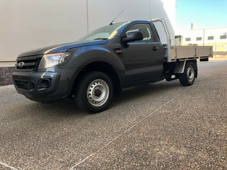 2013 Ford Ranger PX XL 4x2 Grey 6 Speed Manual Cab Chassis