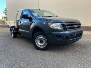 2013 Ford Ranger PX XL 4x2 Grey 6 Speed Manual Cab Chassis.