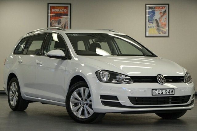 Used Volkswagen Golf VII MY17 92TSI DSG Comfortline, 2016 Volkswagen Golf VII MY17 92TSI DSG Comfortline White 7 Speed Sports Automatic Dual Clutch Wagon