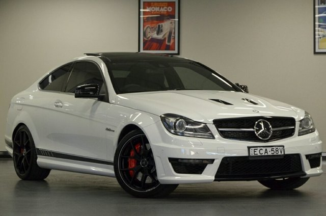Used Mercedes-Benz C63 C204 AMG SPEEDSHIFT MCT Edition 507, 2015 Mercedes-Benz C63 C204 AMG SPEEDSHIFT MCT Edition 507 Polar White 7 Speed Sports Automatic