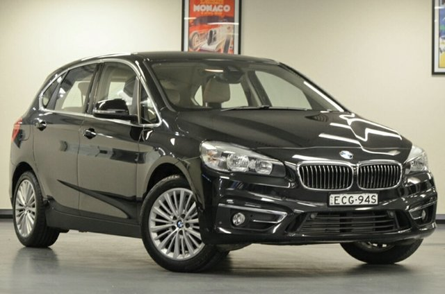 Used BMW 218d F45 Luxury Line Active Tourer Steptronic, 2015 BMW 218d F45 Luxury Line Active Tourer Steptronic Black 8 Speed Automatic Hatchback