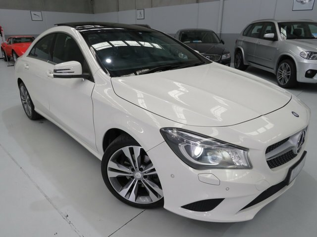 Used Mercedes-Benz CLA200 C117 DCT, 2014 Mercedes-Benz CLA200 C117 DCT Ibis White 7 Speed Sports Automatic Dual Clutch Coupe