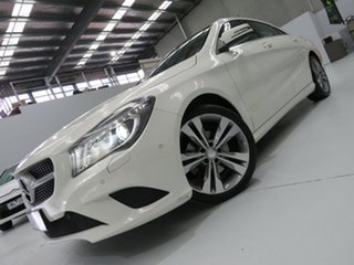 2014 Mercedes-Benz CLA200 C117 DCT Ibis White 7 Speed Sports Automatic Dual Clutch Coupe