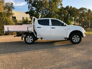 2013 Mitsubishi Triton MN MY13 GLX Double Cab White 4 Speed Sports Automatic Utility.