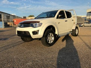 2013 Mitsubishi Triton MN MY13 GLX Double Cab White 4 Speed Sports Automatic Utility