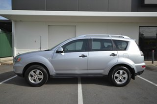 2010 Mitsubishi Outlander ZH MY10 LS Silver 6 Speed CVT Auto Sequential Wagon.