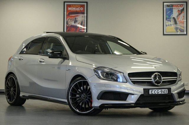 Used Mercedes-Benz A45 W176 805+055MY AMG SPEEDSHIFT DCT 4MATIC, 2014 Mercedes-Benz A45 W176 805+055MY AMG SPEEDSHIFT DCT 4MATIC Silver 7 Speed