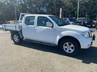 2010 Nissan Navara D40 TRAY BACK 4 ST 2.5 TURBO DIESEL White 5 Speed Automatic Dual Cab.