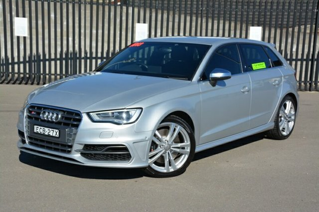 Used Audi S3 8V MY14 Sportback S Tronic Quattro, 2013 Audi S3 8V MY14 Sportback S Tronic Quattro Silver 6 Speed Sports Automatic Dual Clutch