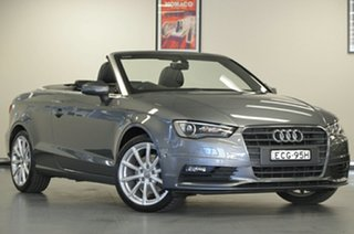 2016 Audi A3 8V MY16 Ambition S Tronic Grey 7 Speed Sports Automatic Dual Clutch Cabriolet.