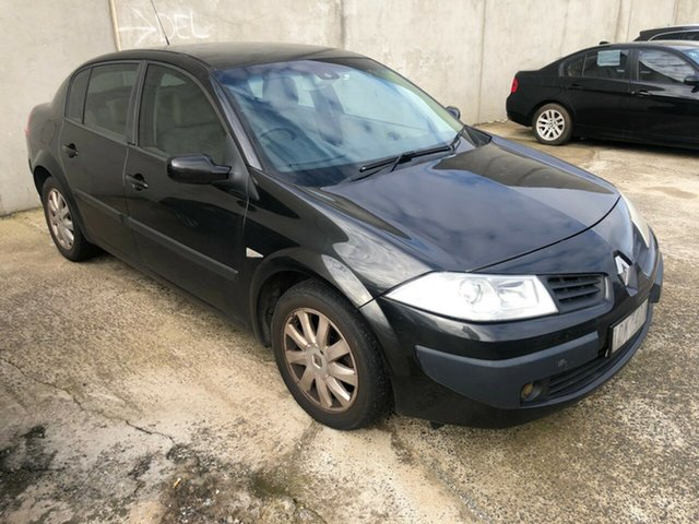 Used Renault Megane X84 Expression Hoppers Crossing, 2007 Renault Megane X84 Expression Black 6 Speed Manual Sedan