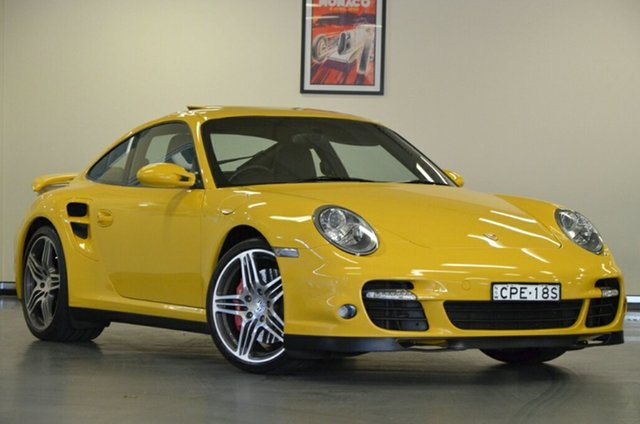 Used Porsche 911 997 MY07 Turbo AWD, 2007 Porsche 911 997 MY07 Turbo AWD Speed Yellow 5 Speed Sports Automatic Coupe