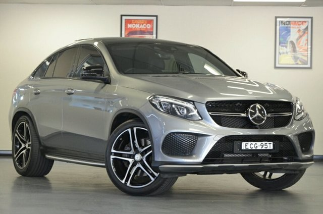 Used Mercedes-Benz GLE450 C292 AMG Coupe 9G-Tronic 4MATIC, 2016 Mercedes-Benz GLE450 C292 AMG Coupe 9G-Tronic 4MATIC Tenorite Grey 9 Speed Sports Automatic