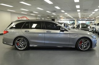 2015 Mercedes-Benz C-Class S205 806MY C63 AMG Estate SPEEDSHIFT MCT S Palladium Silver 7 Speed.