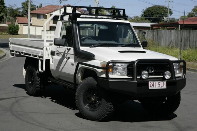 Used Toyota Landcruiser VDJ79R MY10 Workmate, 2011 Toyota Landcruiser VDJ79R MY10 Workmate White 5 Speed Manual Cab Chassis