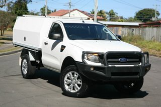 2013 Ford Ranger PX XL White 6 Speed Sports Automatic Cab Chassis.