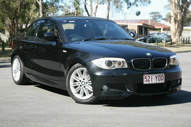 Used BMW 1 Series E82 LCI MY11 , 2011 BMW 1 Series E82 LCI MY11 Black 6 Speed Sports Automatic Coupe
