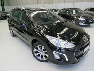 2012 Peugeot 308 T7 MY12 Active Nera Black 6 Speed Sports Automatic Hatchback.