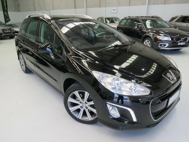 Used Peugeot 308 T7 MY12 Active, 2012 Peugeot 308 T7 MY12 Active Nera Black 6 Speed Sports Automatic Hatchback