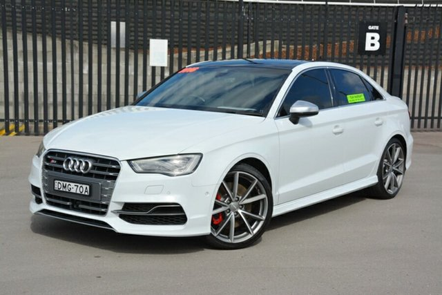 Used Audi S3 8V MY16 S Tronic Quattro, 2016 Audi S3 8V MY16 S Tronic Quattro White 6 Speed Sports Automatic Dual Clutch Sedan