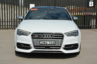 2016 Audi S3 8V MY16 S Tronic Quattro White 6 Speed Sports Automatic Dual Clutch Sedan.