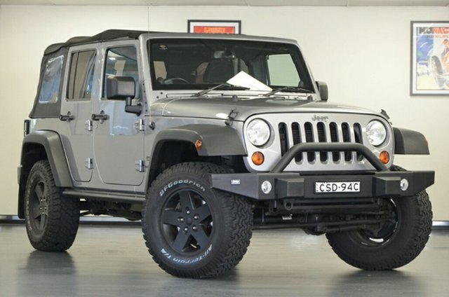 Used Jeep Wrangler JK MY2014 Unlimited Sport, 2014 Jeep Wrangler JK MY2014 Unlimited Sport Silver 5 Speed Automatic Softtop
