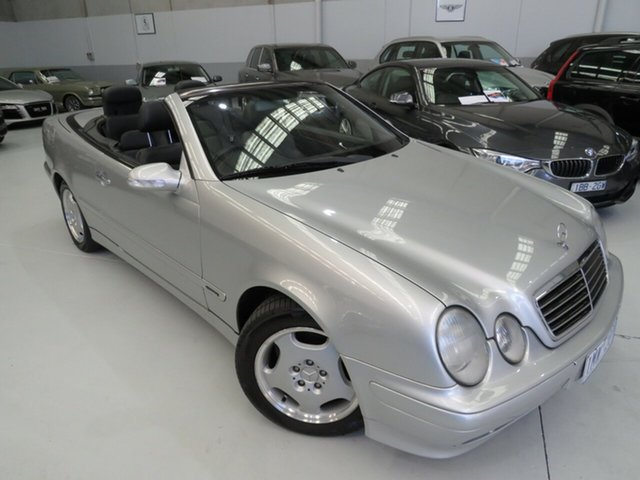 Used Mercedes-Benz CLK-Class A208 CLK320 Elegance, 2000 Mercedes-Benz CLK-Class A208 CLK320 Elegance Silver Essence 5 Speed Automatic Cabriolet