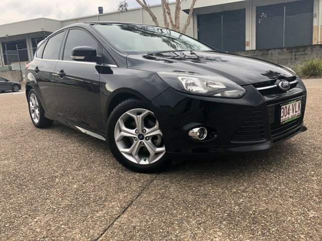 Used Ford Focus LW MkII Sport PwrShift, 2013 Ford Focus LW MkII Sport PwrShift Black 6 Speed Sports Automatic Dual Clutch Hatchback