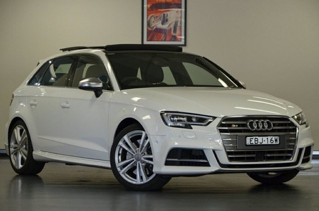 Used Audi S3 8V MY17 Sportback S Tronic Quattro, 2017 Audi S3 8V MY17 Sportback S Tronic Quattro White 7 Speed Sports Automatic Dual Clutch Hatchback