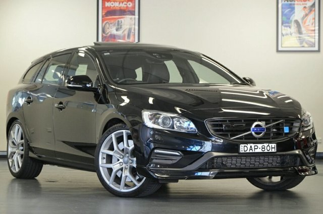 Used Volvo V60 F Series MY15 Polestar Geartronic AWD, 2015 Volvo V60 F Series MY15 Polestar Geartronic AWD Black 6 Speed Sports Automatic Wagon