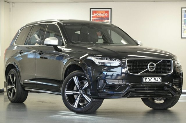 Used Volvo XC90 L Series MY16 T8 Geartronic AWD R-Design, 2016 Volvo XC90 L Series MY16 T8 Geartronic AWD R-Design Black 8 Speed Sports Automatic Wagon Hybrid