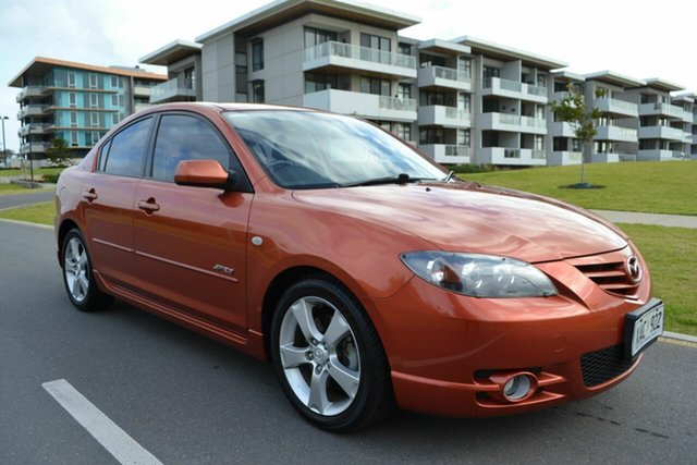 Used Mazda 3 BK1031 SP23, 2004 Mazda 3 BK1031 SP23 Orange 4 Speed Sports Automatic Sedan