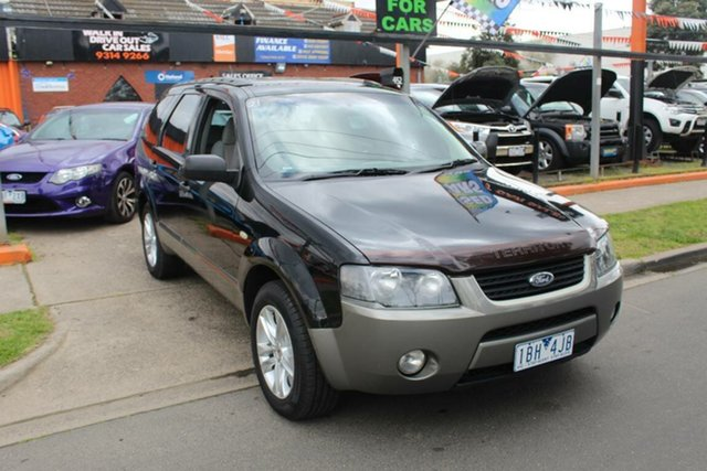 Used Ford Territory SX TX (RWD), 2004 Ford Territory SX TX (RWD) Black 4 Speed Auto Seq Sportshift Wagon