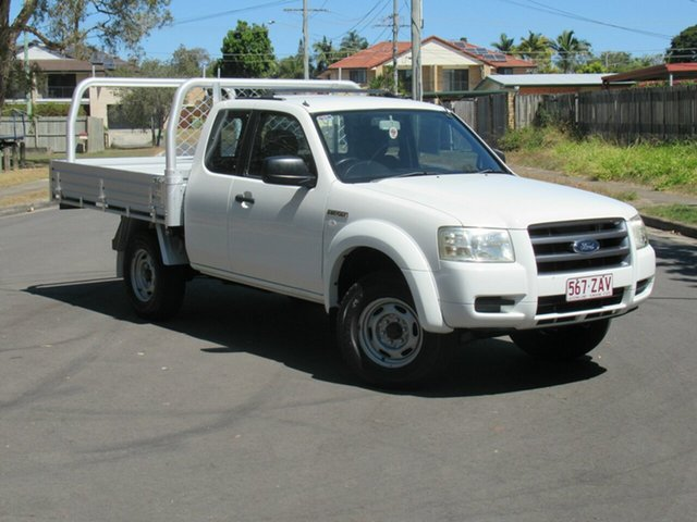 Used Ford Ranger PJ XL Super Cab 4x2 Hi-Rider, 2007 Ford Ranger PJ XL Super Cab 4x2 Hi-Rider White 5 Speed Manual Cab Chassis