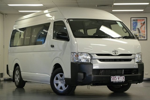 Used Toyota HiAce KDH223R Commuter High Roof Super LWB, 2015 Toyota HiAce KDH223R Commuter High Roof Super LWB White 4 Speed Automatic Bus