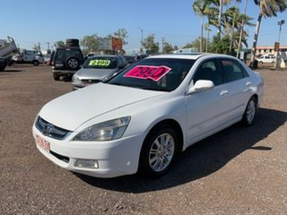 2006 Honda Accord V6 VTEC White 4 Speed Auto Active Select Sedan.