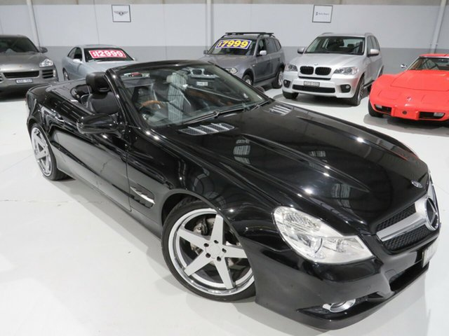 Used Mercedes-Benz SL-Class R230 MY09 SL350, 2008 Mercedes-Benz SL-Class R230 MY09 SL350 Obsidian Black 7 Speed Automatic Roadster