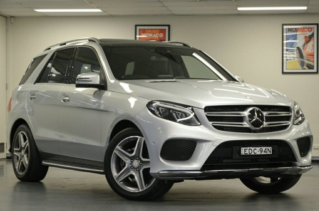 Used Mercedes-Benz GLE-Class W166 GLE350 d 9G-Tronic 4MATIC, 2016 Mercedes-Benz GLE-Class W166 GLE350 d 9G-Tronic 4MATIC Silver 9 Speed Sports Automatic Wagon