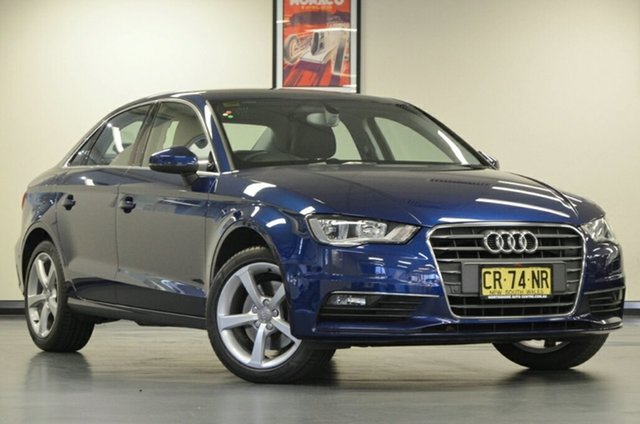 Used Audi A3 8V MY15 Ambition S Tronic Quattro, 2015 Audi A3 8V MY15 Ambition S Tronic Quattro Blue 6 Speed Sports Automatic Dual Clutch Sedan