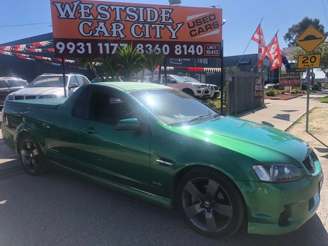 Used Holden Commodore VE II SS Thunder, 2011 Holden Commodore VE II SS Thunder Green 6 Speed Automatic Utility