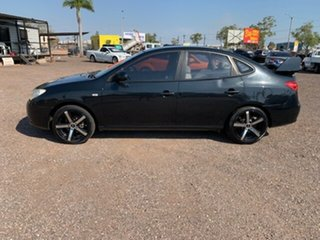 2008 Hyundai Elantra Black 5 Speed Manual Hatchback.
