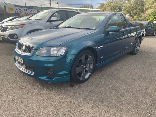 Used Holden Commodore Ute  SS Thunder, 2012 Holden Commodore Ute SERIES II VE SS Thunder Turquoise 6 Speed Utility