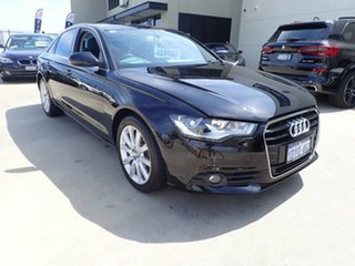 2012 Audi A6 4G MY13 Multitronic Black Magic 1 Speed Constant Variable Sedan.