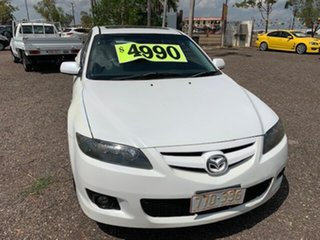 2006 Mazda 6 6 White 4 Speed Auto Active Select Hatchback.
