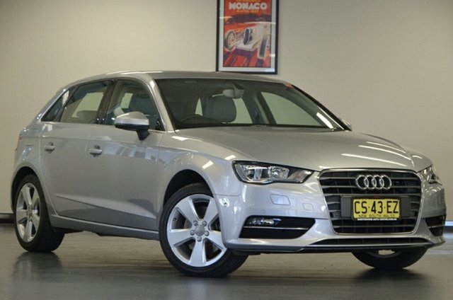 Used Audi A3 8V MY15 Ambition Sportback S Tronic, 2015 Audi A3 8V MY15 Ambition Sportback S Tronic Silver 7 Speed Sports Automatic Dual Clutch
