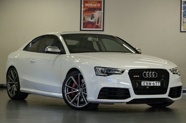 Used Audi RS5 8T MY15 S Tronic Quattro, 2015 Audi RS5 8T MY15 S Tronic Quattro Ibis White 7 Speed Sports Automatic Dual Clutch Coupe
