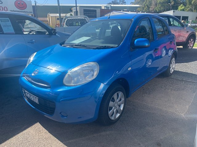 Used Nissan Micra  ST, 2012 Nissan Micra AUTO STK13 ST Blue 4 Speed Automatic Hatchback