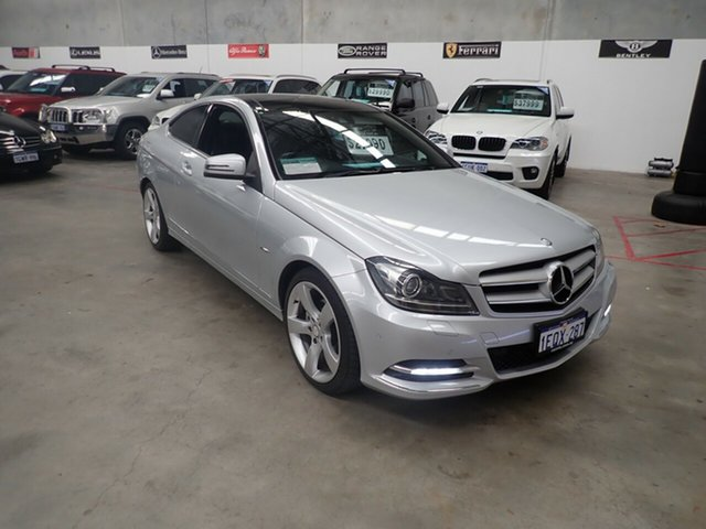 Used Mercedes-Benz C250 C204 MY12 Sport BE, 2012 Mercedes-Benz C250 C204 MY12 Sport BE Silver Leaf 7 Speed Automatic G-Tronic Coupe